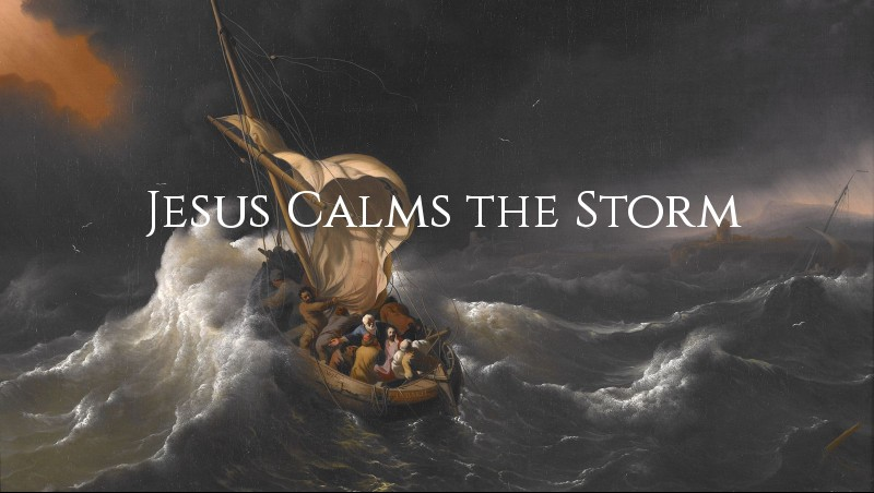 Jesus Calms the Storm (Mark 4:35-41) coloring page