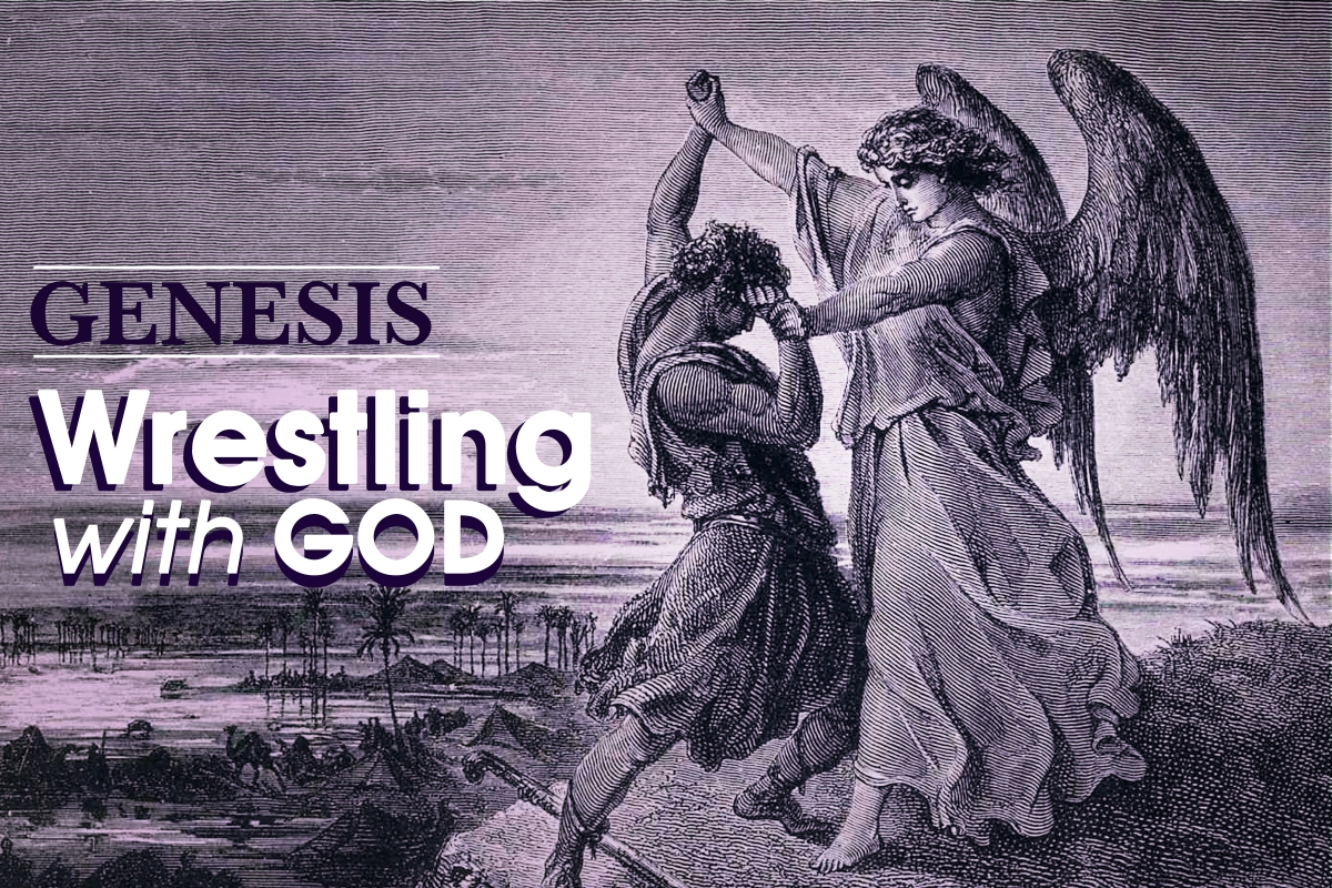 Jacob wrestles with god genesis 32 b c newton